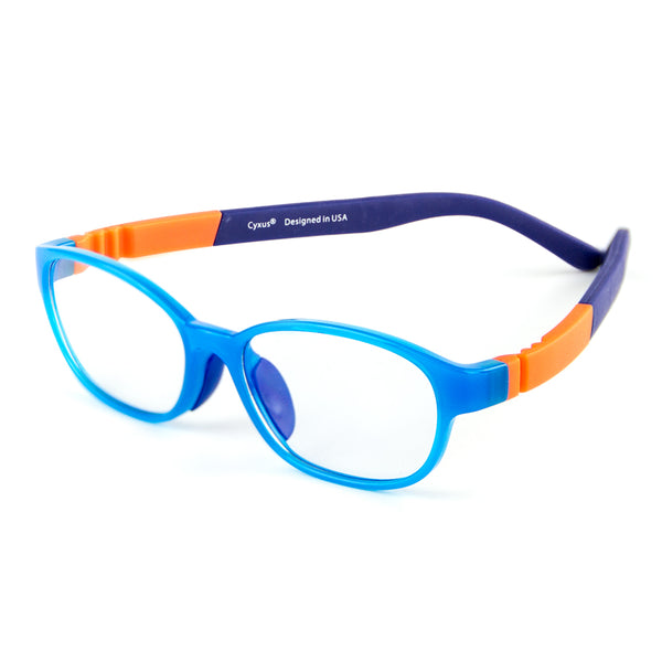 Blue Light Blocking Rectangle Lightweight Computer Glasses for Kids Teens 6800 Clear Lenses Computer Glasses cyxus