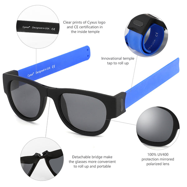 Polarized UV Protection Tap-on Sunglasses 1301 Sunglasses cyxus