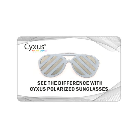 Cyxus Polarized Sunglasses Test Card Test Card cyxus