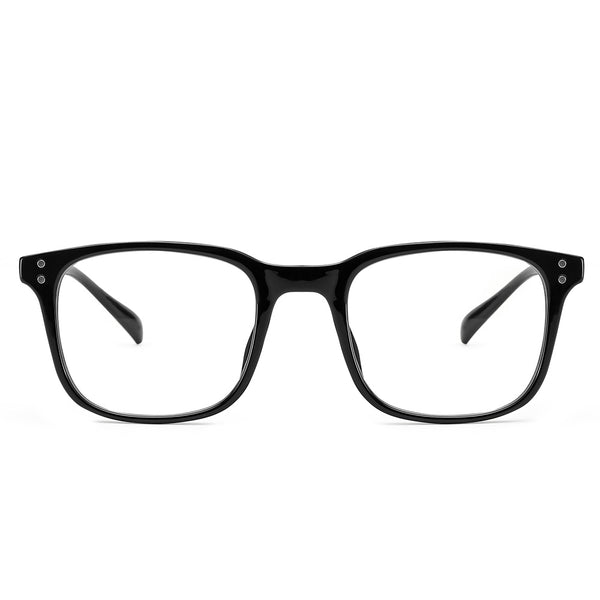 Blue Light Blocking Lightweight Rectangle Computer Glasses for Men Women 8001 Metal Clear Lenses Computer Glasses cyxus