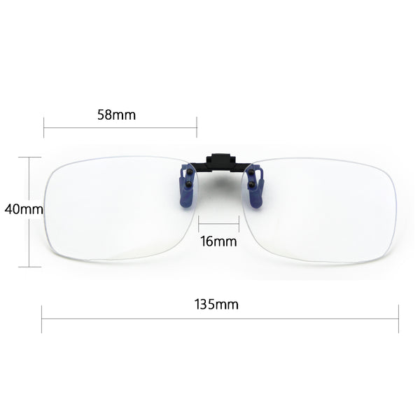 2 pack Blue Light Blocking Clip On Glasses 8099T44 Clip On Computer Glasses cyxus