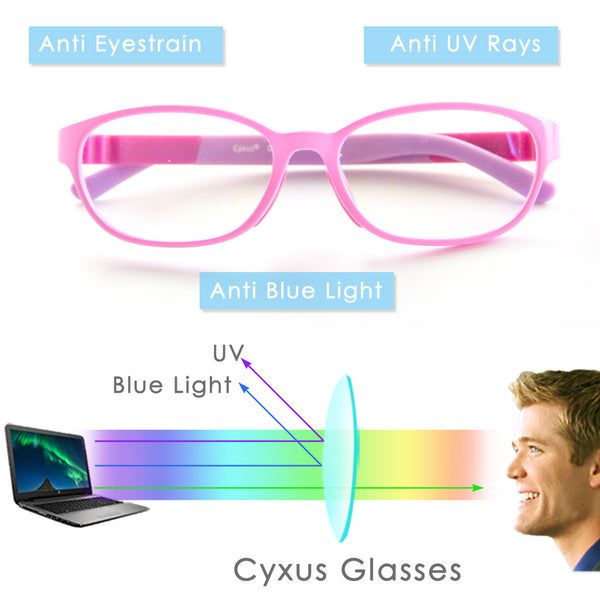 Blue Light Filter Computer Glasses for Kids 6800 Computer Glasses cyxus