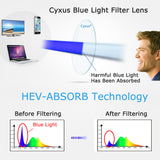 Blue Light Blocking Glasses Square Clear Lenses 8082 Computer Glasses cyxus