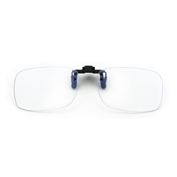 Blue Light Blocking Clip On Glasses Rectangle Clear Lenses 8000T04 Clip On Computer Glasses cyxus