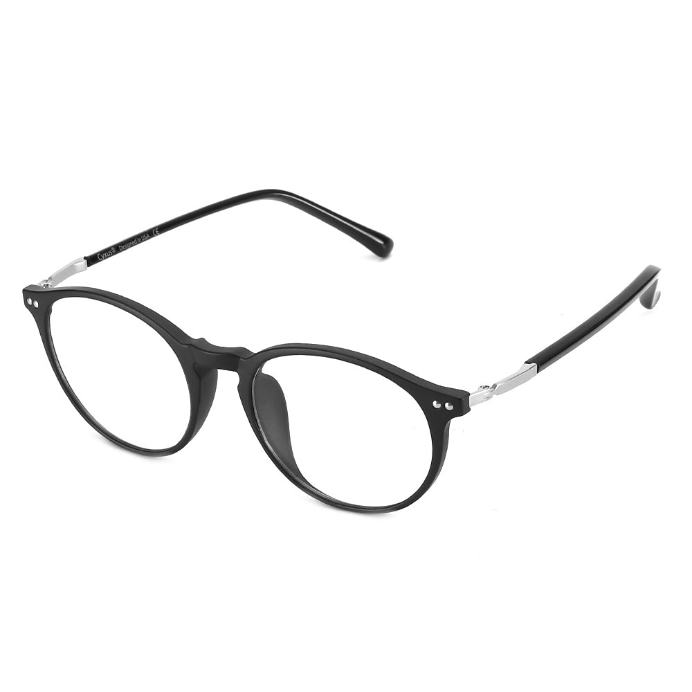 94a92fa78cf05 Blue Light Blocking Glasses TR90 Round Clear Lenses 8010 Computer Glasses  cyxus