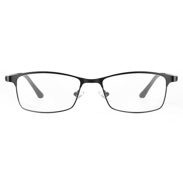 Blue Light Blocking Lightweight Rectangle Computer Glasses for Men Women 8040 Metal Clear Lenses Computer Glasses cyxus