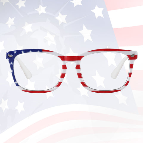 US Flag Blue Light Filter Computer Glasses 8082