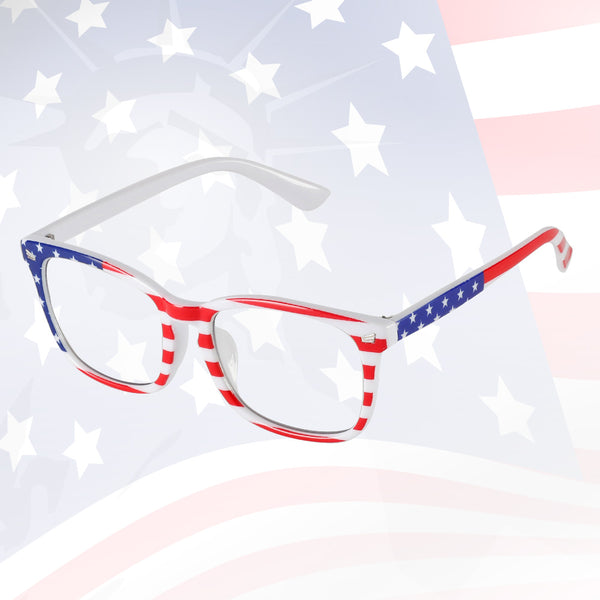 US Flag Blue Light Filter Computer Glasses Wing Computer Glasses cyxus