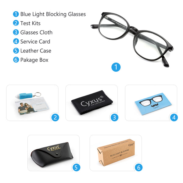 Blue Light Blocking Glasses Ruven Computer Glasses cyxus