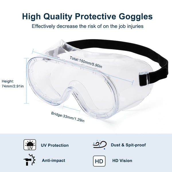 Anti-Fog Anti Virus Medical Safety Goggles Safety Glasses cyxus