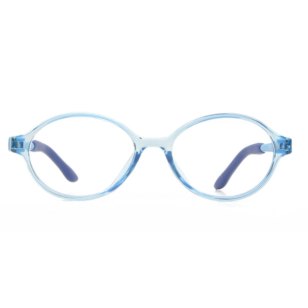 Blue Light Blocking Oval Lightweight Computer Glasses for Kids Teens 6161 Clear Lenses Computer Glasses cyxus