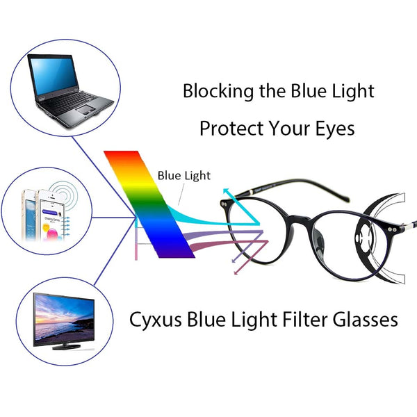 Blue Light Blocking Square Lightweight Computer Glasses for Men Women 8200 Clear Lenses Computer Glasses cyxus
