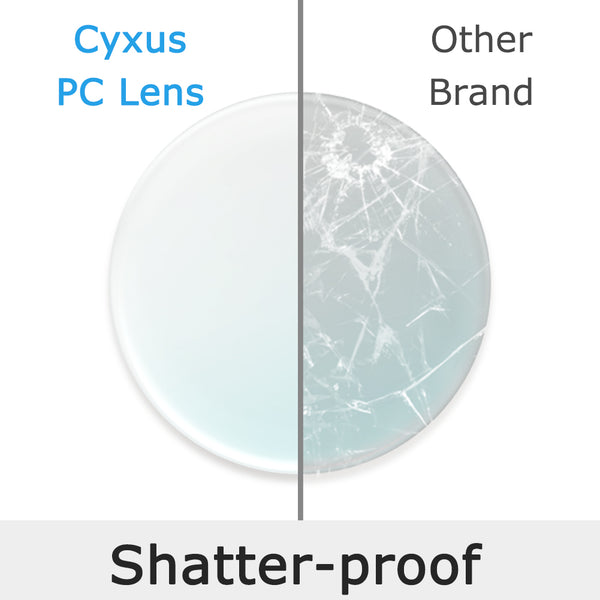 Blue Light Blocking/Filtering Thin & Light  Polycarbonate lenses, Shatter Proof, Water Proof, Anti Scratch Blue Light Blocking PC Lens cyxus