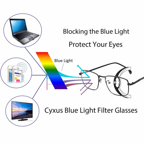 Blue Light Blocking Square Lightweight Computer Glasses for Men Women 8752 Clear Lenses Computer Glasses cyxus