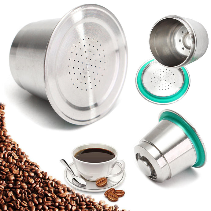 Nespresso Stainless Steel Refillable Reusable Capsule - Zero Waste - Life Long use!