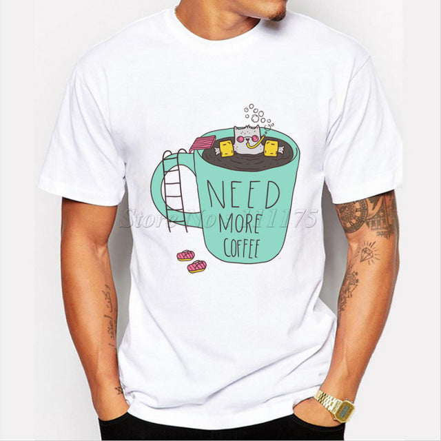 Need More Coffee T shirt Men