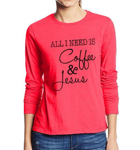 Coffee & Jesus T Shirt women