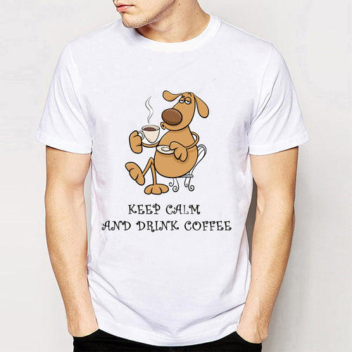 Keep Calm and Drink Coffee T-Shirt Men