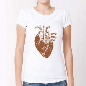 Coffee Heart T Shirt women