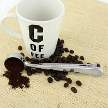 Stainless Steel Coffee Scoop with Bag Sealing Clip