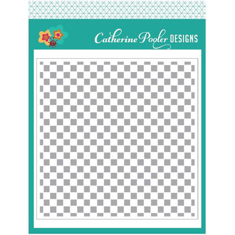 Checkerboard Stencil - Catherine Pooler