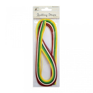 Paper Quilling Strips - Rainbow Color