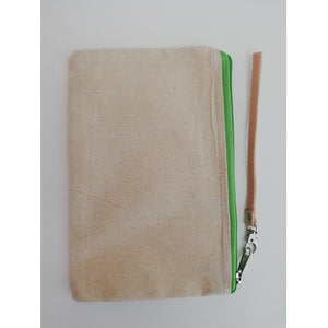 Canvas Wristlet Green 3