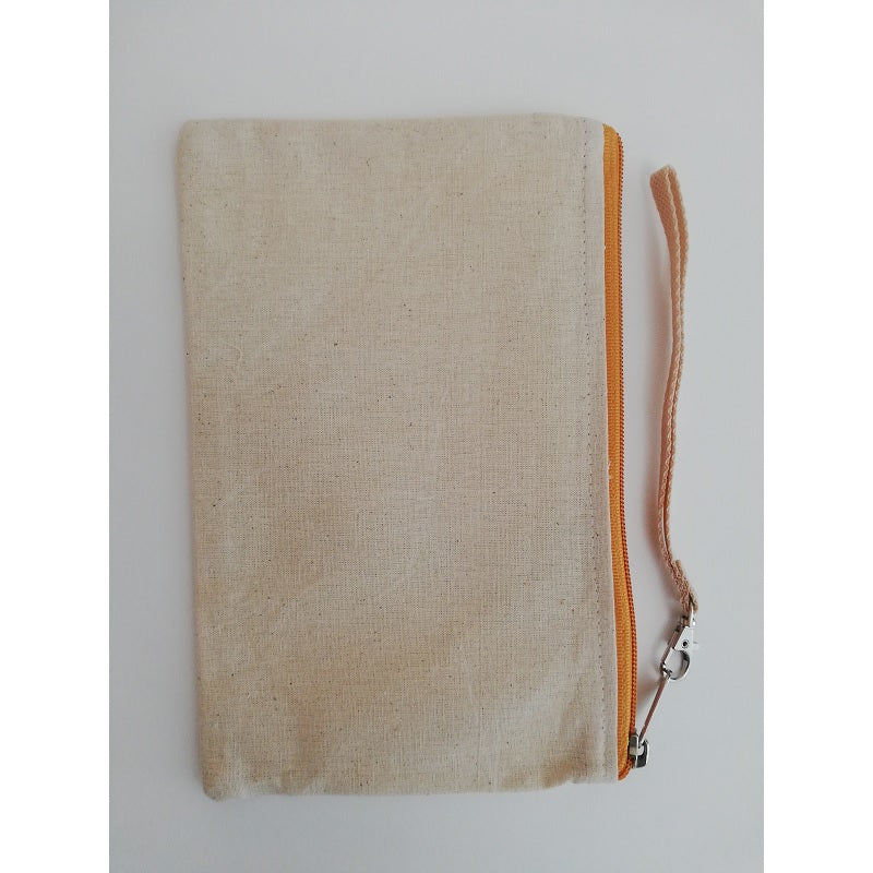 Canvas Wristlet Yellow