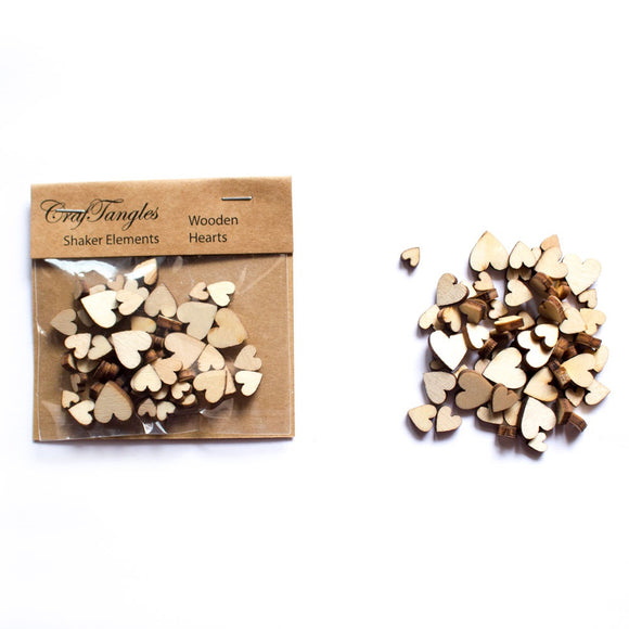 Shaker Elements Wooden Hearts - Craftangle