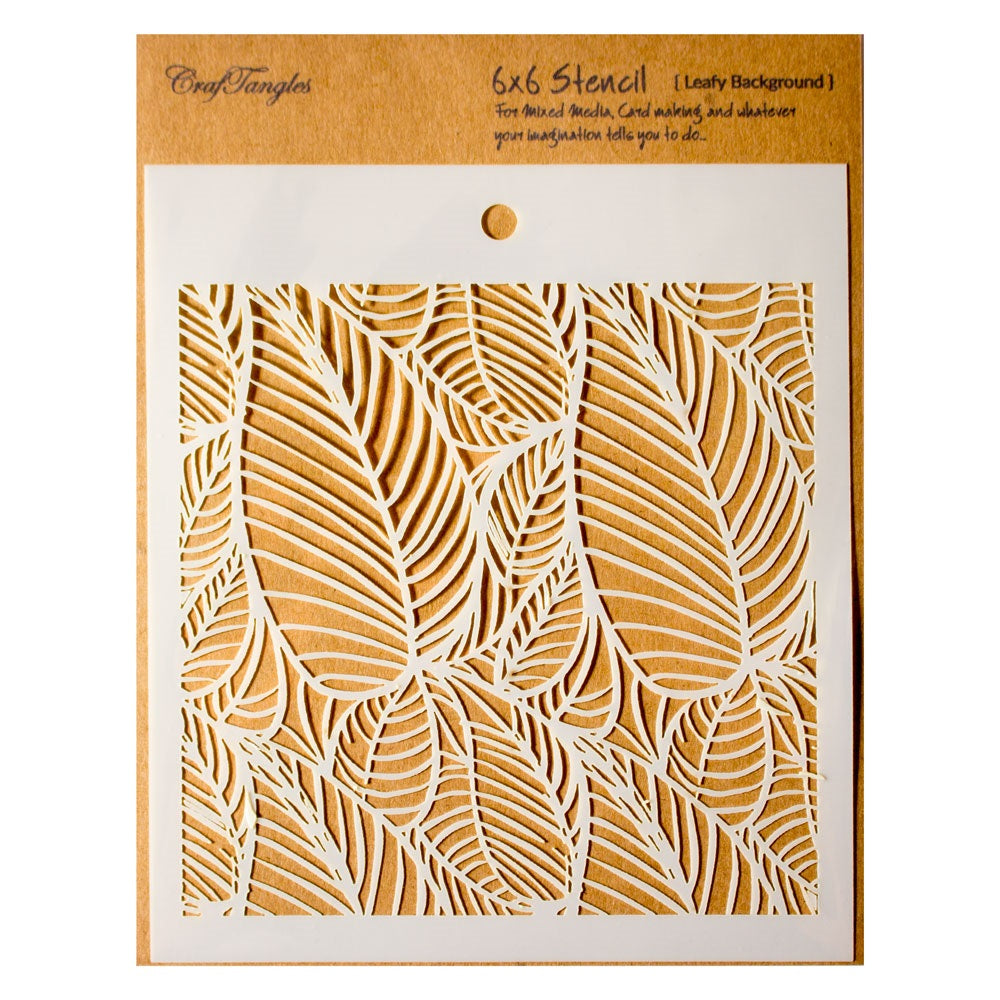 Leafy Background Stencils - Craftangle