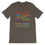 Short-Sleeve Unisex T-Shirt - Freethought words
