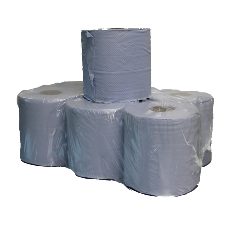 BLUE CENTRE FEED ROLLS 150 MT 2 PLY X 6