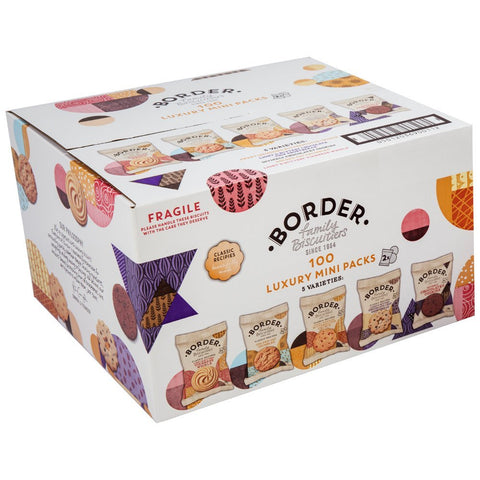 BORDERS MINIPACK BISCUITS X 100