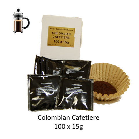 COLOMBIAN CAFETIERE 2 CUP SACHETS X 100 X 15G
