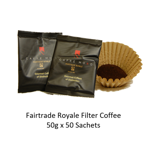 FAIRTRADE ROYALE FILTER COFFEE SACHETS X 50 X 50G