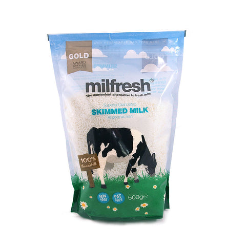 MILFRESH GOLD GRANULATED MILK 100% SKIMMED 500G