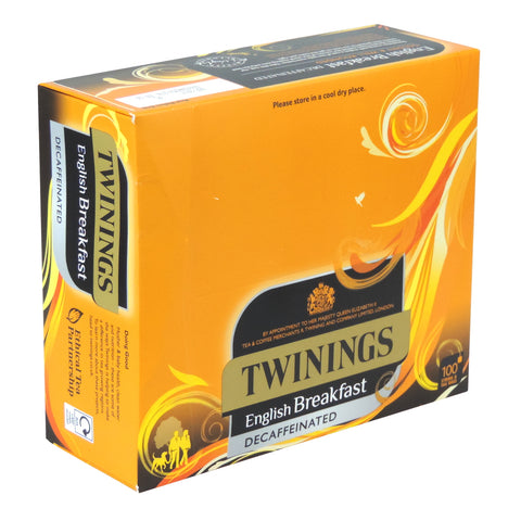 TWININGS ENGLISH DECAFFEINATED STRING & TAG X 100