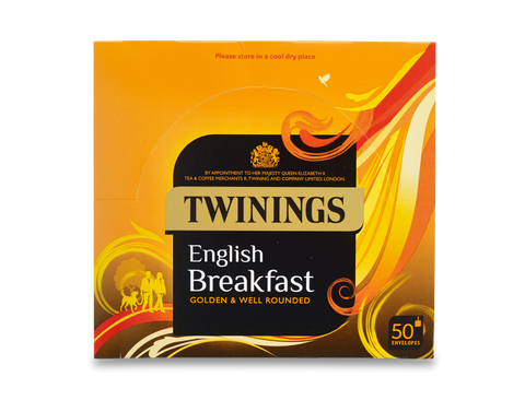 TWININGS ENVELOPE TRADITIONAL ENGLISH TEA X 50