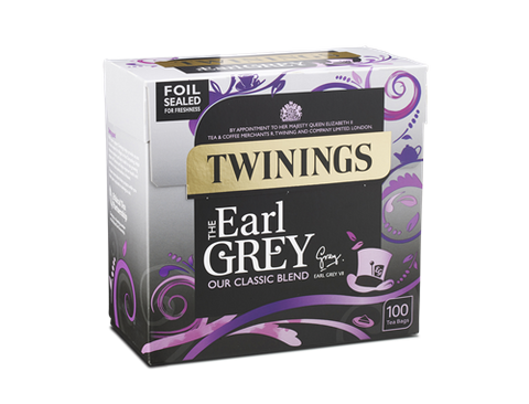 TWININGS STRING & TAG EARL GREY TEABAGS X 100