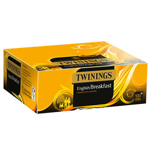 TWININGS TRADITIONAL ENGLISH TAG TEABAGS X 100