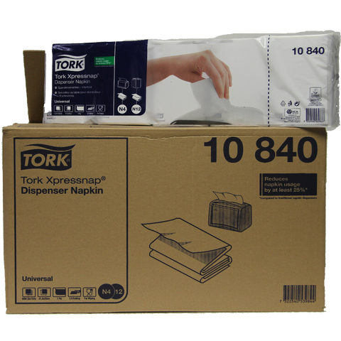 TORK WHITE DISPENSER NAPKINS X 9000