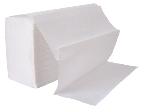 WHITE Z-FOLD HAND TOWELS 2 PLY X 3000