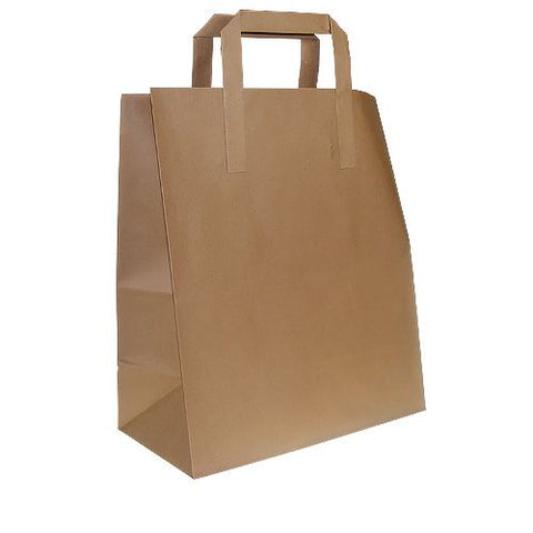 BROWN MEDIUM CARRIER BAGS X 250