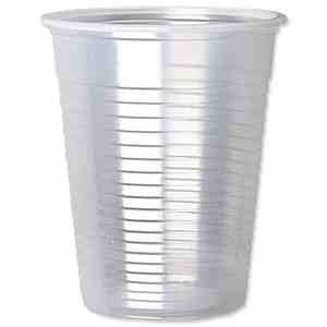 Vegware 7 oz Clear cold water cups compostable x 2000