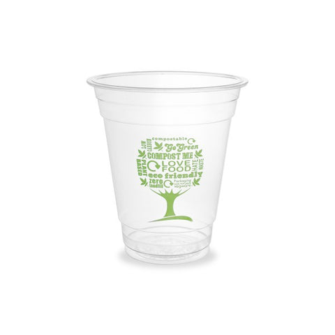 9/12/16oz GREEN TREE COMPOSTABLE SMOOTHIE CUPS