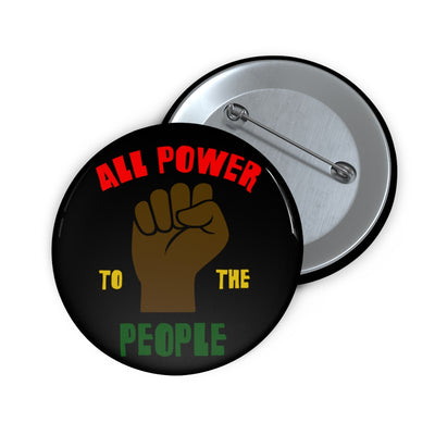 All Power to the People Pin Button