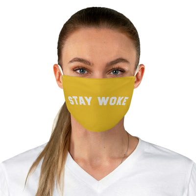 Gold Stay Woke Fabric Face Mask (Reuseable)
