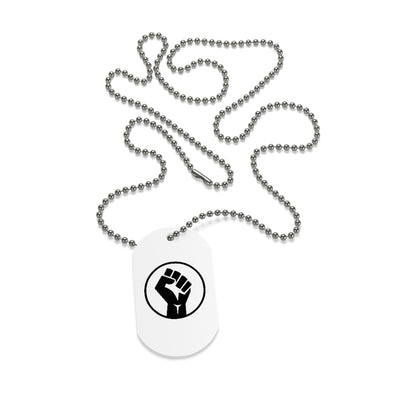 Black Power Dog Tag Necklace