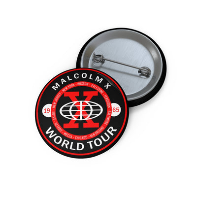 Malcolm X World Tour Pin Buttons