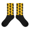 Yellow Small Face Socks
